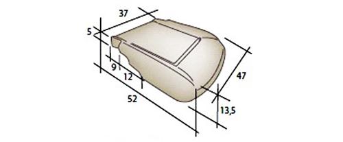 dimensions mousses