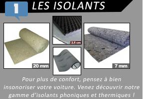 Insonorisants : Dynamat, acoustiques, anti-vibratoires, thermiques...
