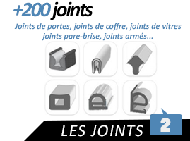 Joints Auto : Joints de portes, vitres, coffres, finitions...