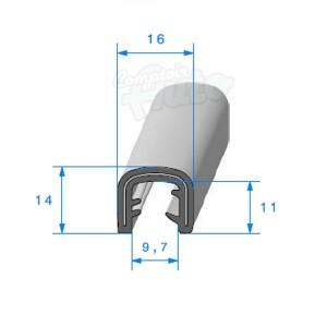 joint armature m tallique caoutchouc e p d m 16x14mm. Black Bedroom Furniture Sets. Home Design Ideas