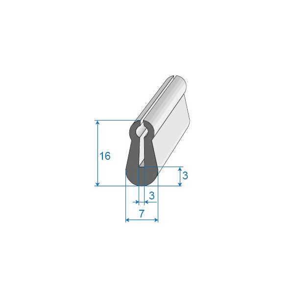 Joint d 39 entr e de porte 7x16mm for Joint de porte d entree