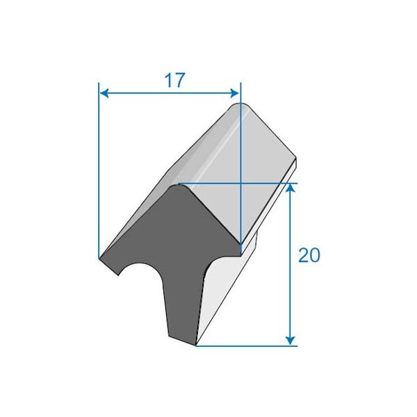 Joint de porte 17x20mm - Joint de porte voiture universel ...