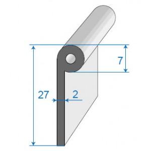 joint de bas de porte bourrelet 7x27mm. Black Bedroom Furniture Sets. Home Design Ideas