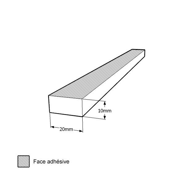 bande caoutchouc cellulaire tanche 20x10mm. Black Bedroom Furniture Sets. Home Design Ideas