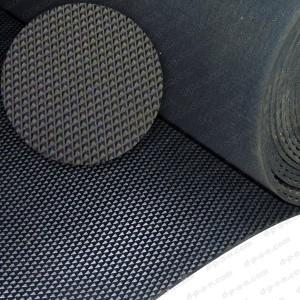 Tapis de sol automobile en caoutchouc noir pointes - Tapis caoutchouc antiderapant pour van ...