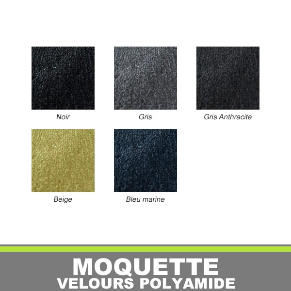 Moquette auto en velours polyamide for Moquette imputrescible