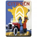 Plaque métal 30x40 plate - Citroen Carte de France