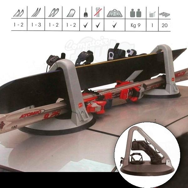 porte ski snowboard magn tique 2 paires. Black Bedroom Furniture Sets. Home Design Ideas