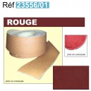 Bordure de moquette en simili grain fin Rouge