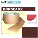 Bordure de moquette en simili grain fin Bordeaux