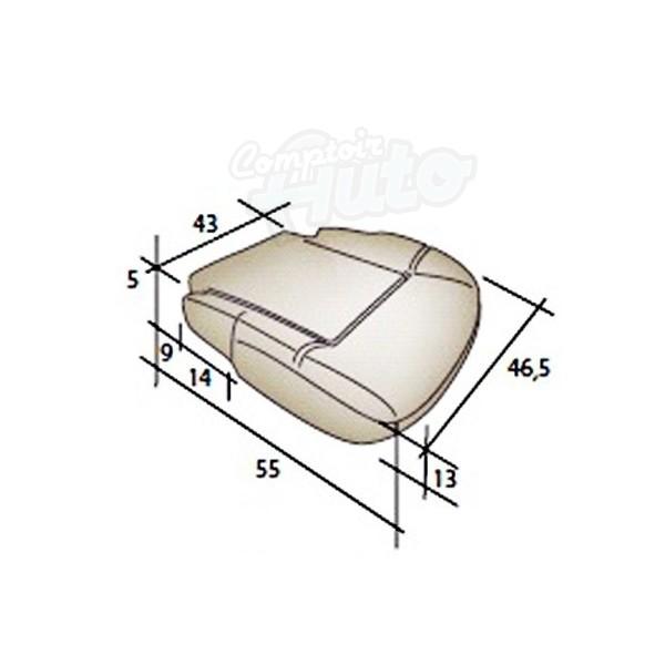 mousse assise de si ge avant de renault kangoo ii utilitaire 2007 2012. Black Bedroom Furniture Sets. Home Design Ideas