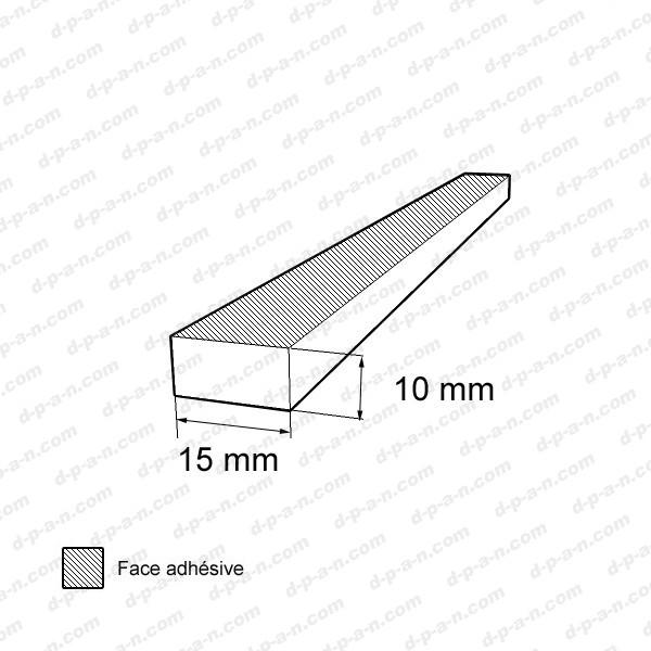 bande caoutchouc cellulaire tanche 15x10mm. Black Bedroom Furniture Sets. Home Design Ideas
