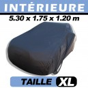 Housse voiture garage, protection intérieure finition velours CoverIn' - XL