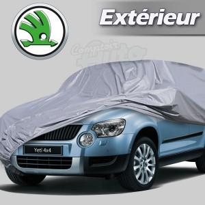 Housse b che de protection ext rieur pour auto skoda - Housse voiture exterieur ...