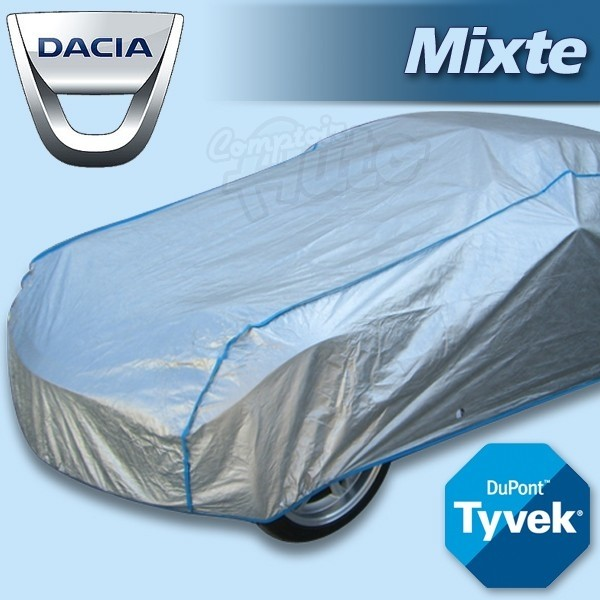 housse b che de protection tyvek mixte pour autos dacia dokker duster lodgy logan sandero. Black Bedroom Furniture Sets. Home Design Ideas