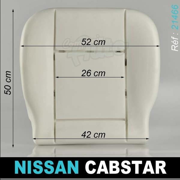 mousses pour assises avants de si ges de v hicules nissan cabstar. Black Bedroom Furniture Sets. Home Design Ideas